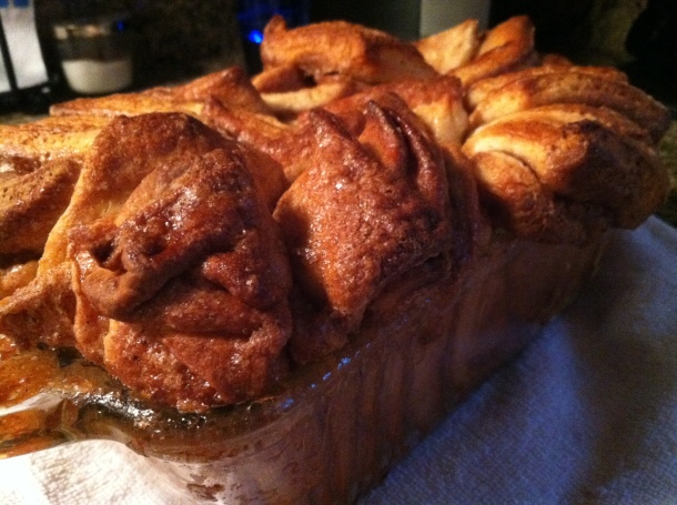 Cinnamon pull apart bread (recipe available)