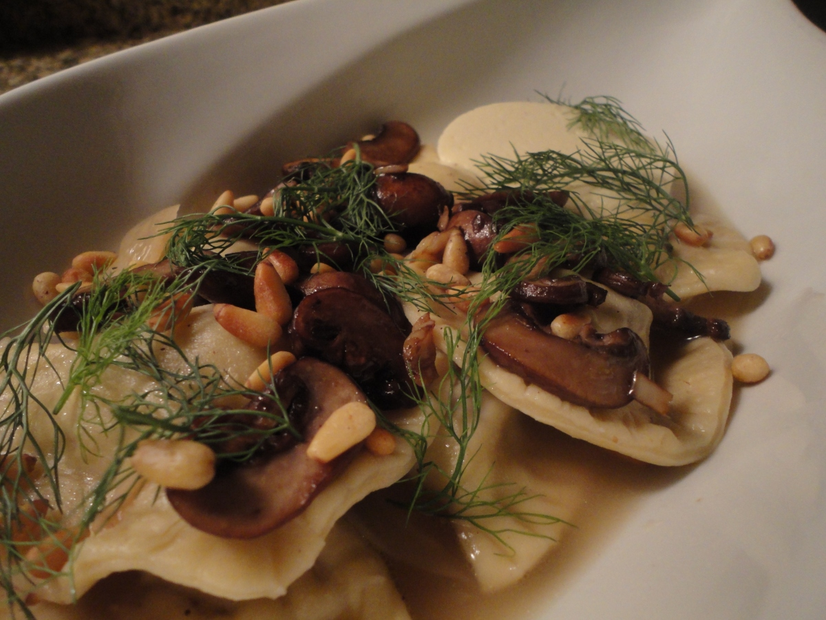 Pork and Mushroom Agnolotti with Parmesan Panna Cotta... recipe and wine pairings