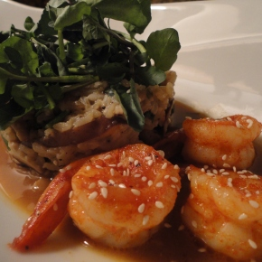 Sriracha and honey glazed shrimp… recipe and pairings