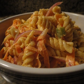 Spicy Pasta Salad (but not toospicy)…