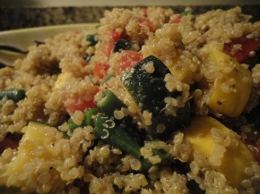 Summer Quinoa Salad (vegan and gluten free)… recipe and wine pairings