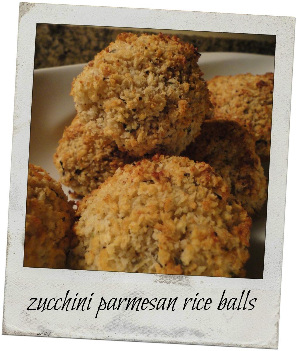 Baked Zucchini Parmesan Rice Balls