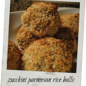 Baked Zucchini Parmesan RiceBalls