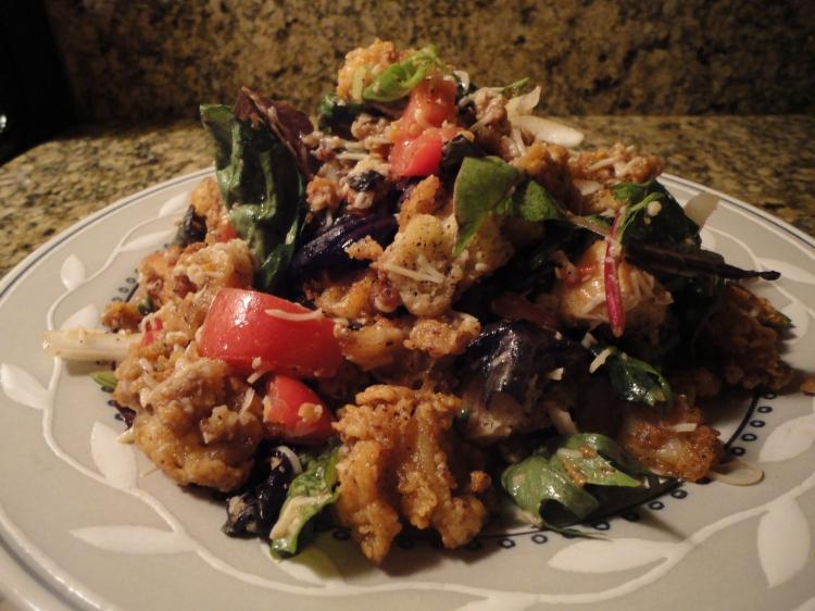 Fried Calamari Salad