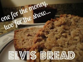 Elvis Bread… banana, peanut butter &bacon!