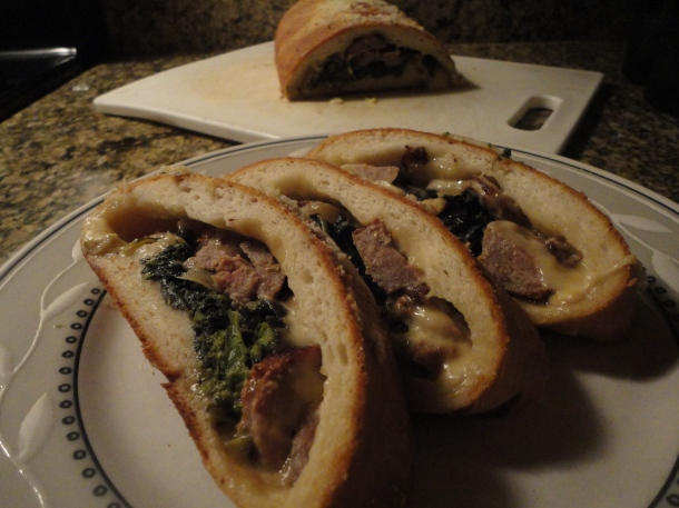Broccoli Rabe & Sausage Bread