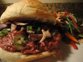 Asian Pulled Pork Sandwich (crockpot recipe)