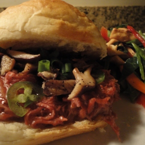 Asian Pulled Pork Sandwich (crockpotrecipe)