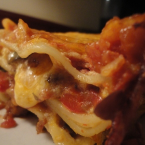Southwest Lasagna… recipe and wine pairings