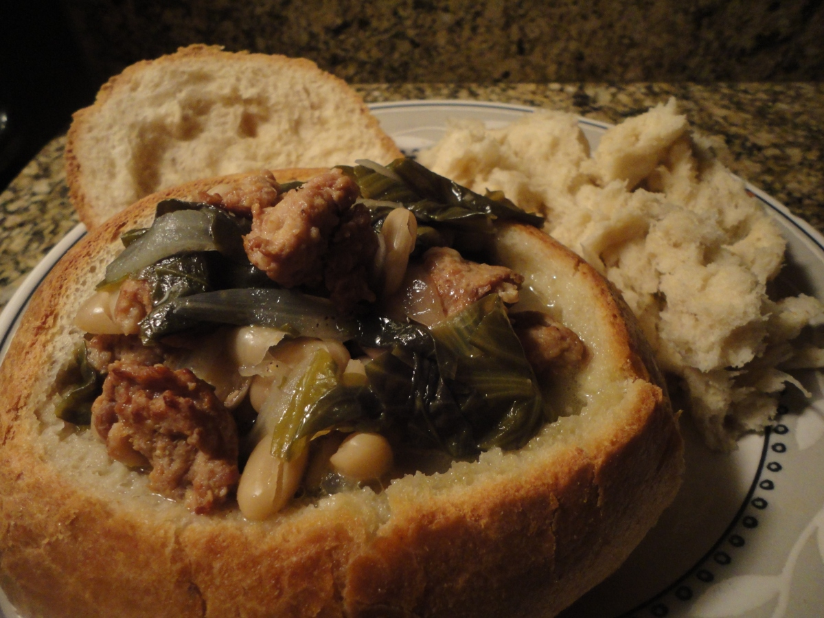 Escarole and Bean Soup with Sausage... recipe and wine pairings