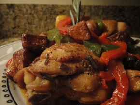 Country Style Chicken… recipe and wine pairings