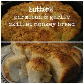 Buttery Parmesan & Garlic Skillet MonkeyBread