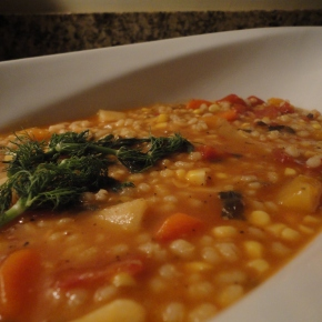 Winter Vegetable Barley Soup… Vegan friendly