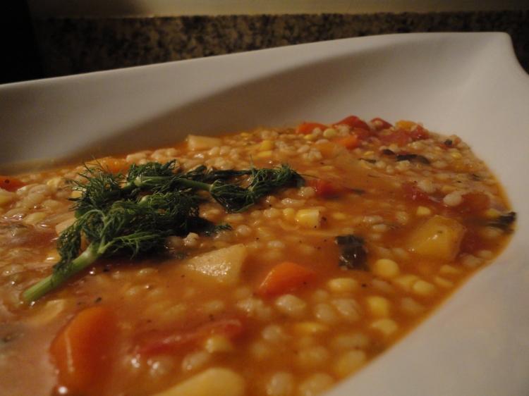 Winter Vegetable Barley Soup