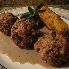 Greek Lamb Meatballs with Crispy Polenta… recipe and wine pairings