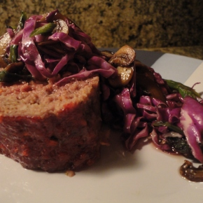 Asian Meatloaf & Slaw… recipe and wine pairings