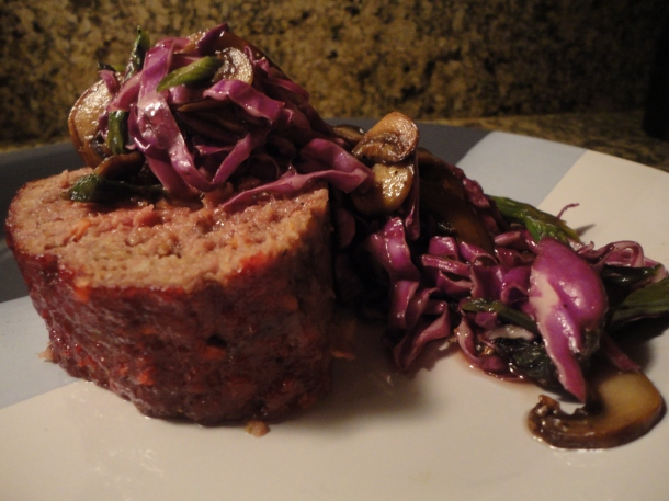 Asian Meatloaf & Slaw