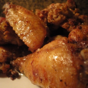 Baked Garlic & Lime Wings