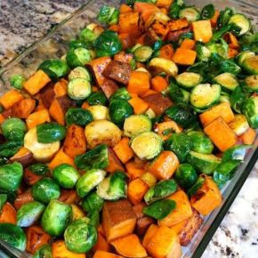 Roasted Winter Vegetables with a Maple Butter Glaze