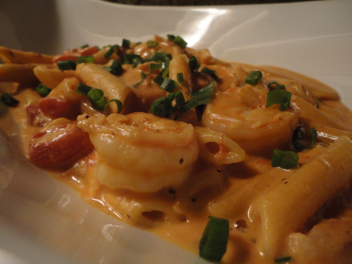 Penne Vodka with Shrimp... recipe and wine pairings
