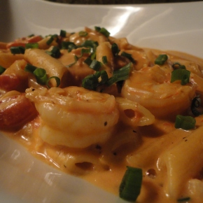 Penne Vodka with Shrimp… recipe and wine pairings
