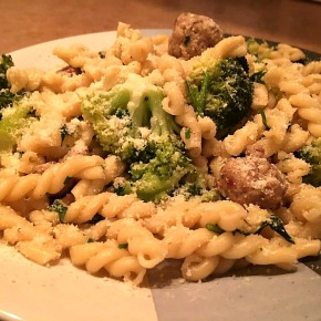 Pasta with broccoli and sausage… recipe and wine pairings